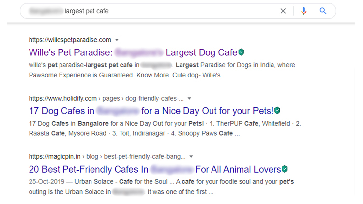 Wille's SEO result