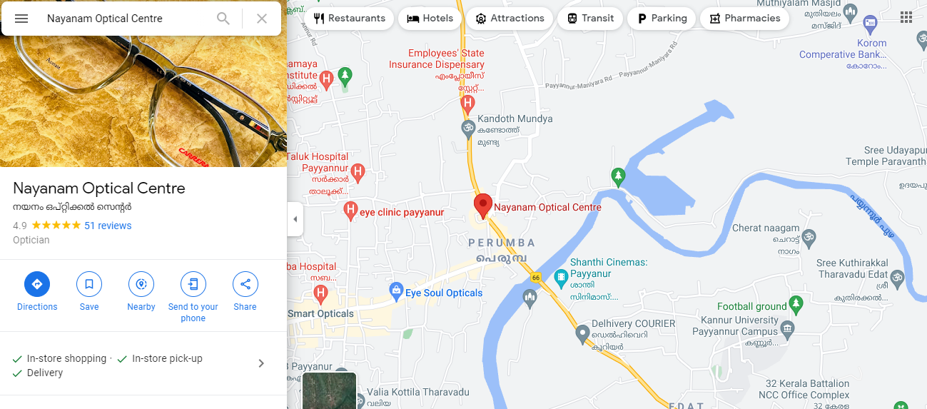 Map of local business