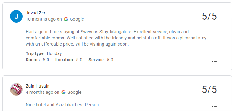 Reviewing in Google My Business
